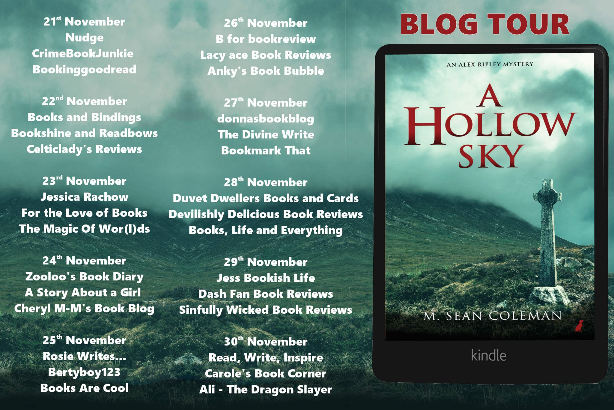 #BookReview of A Hollow Sky by M. Sean Coleman ​@mseancoleman @rararesources #giveaway