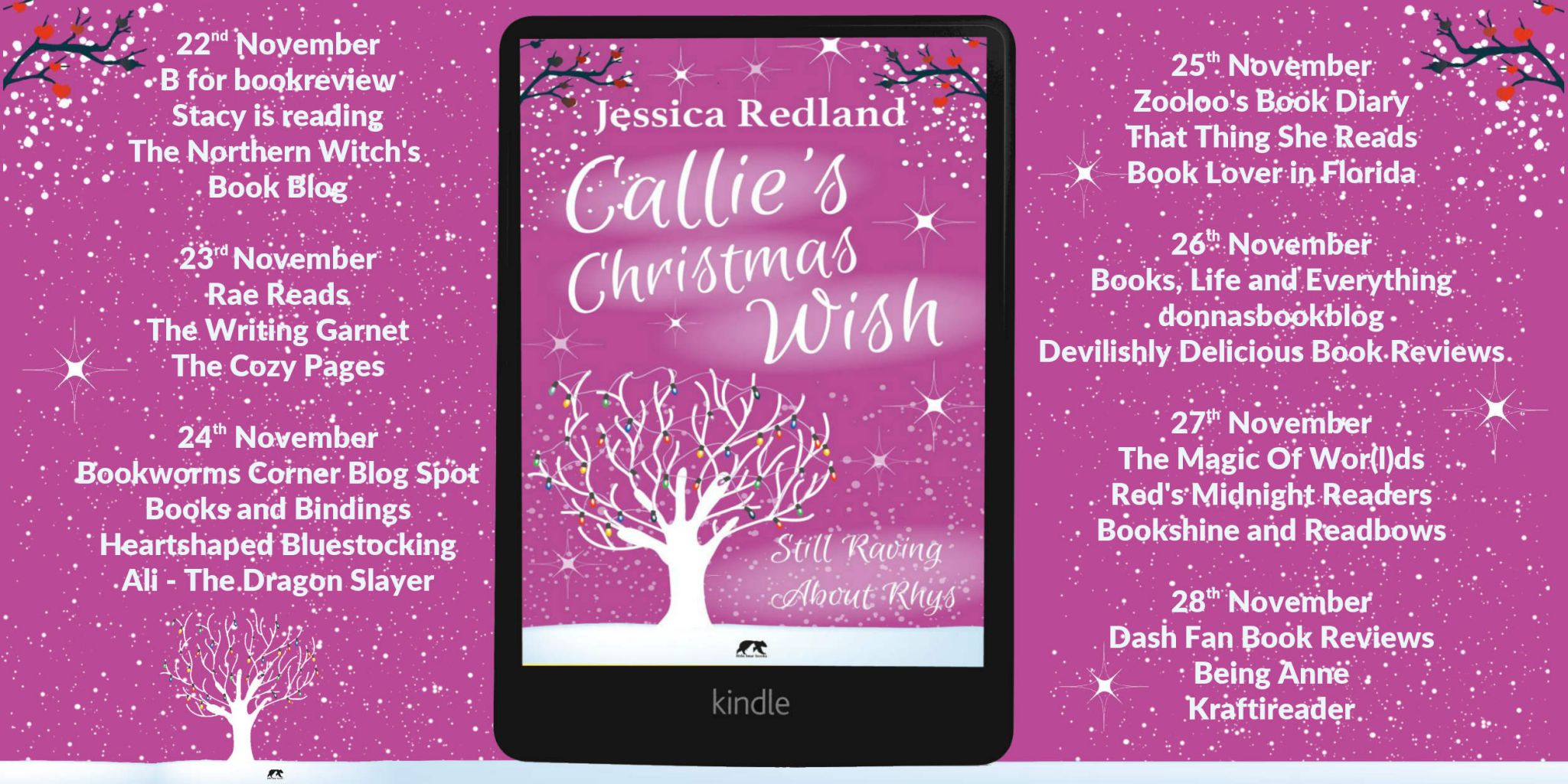 #BookReview of Callie's Christmas Wish by Jessica Redland @JessicaRedland @rararesources