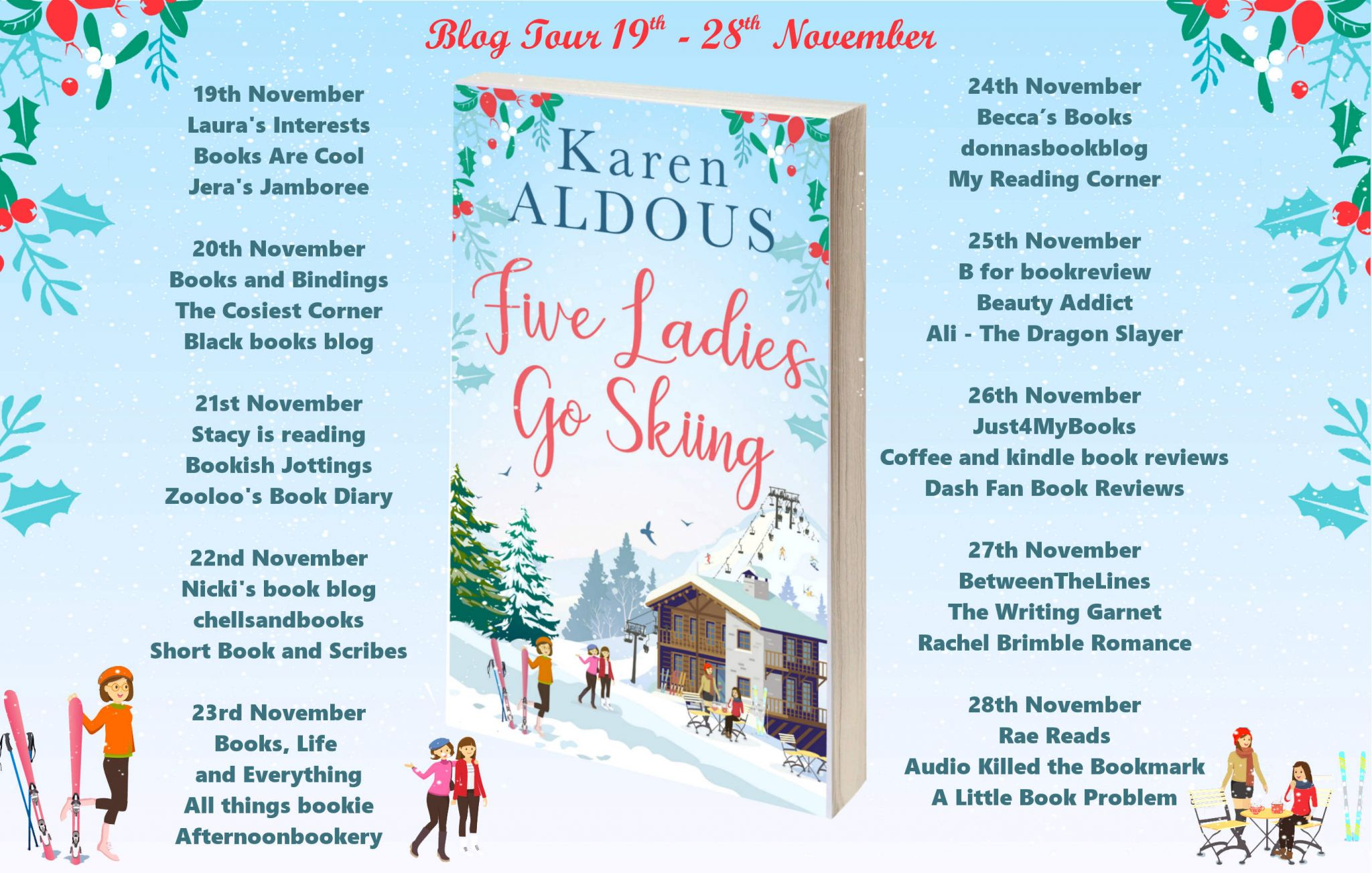 ***#Excerpt from Five Ladies Go Skiing by Karen Aldous @KarenAldous_ @rararesources @HQDigitalUK #giveaway