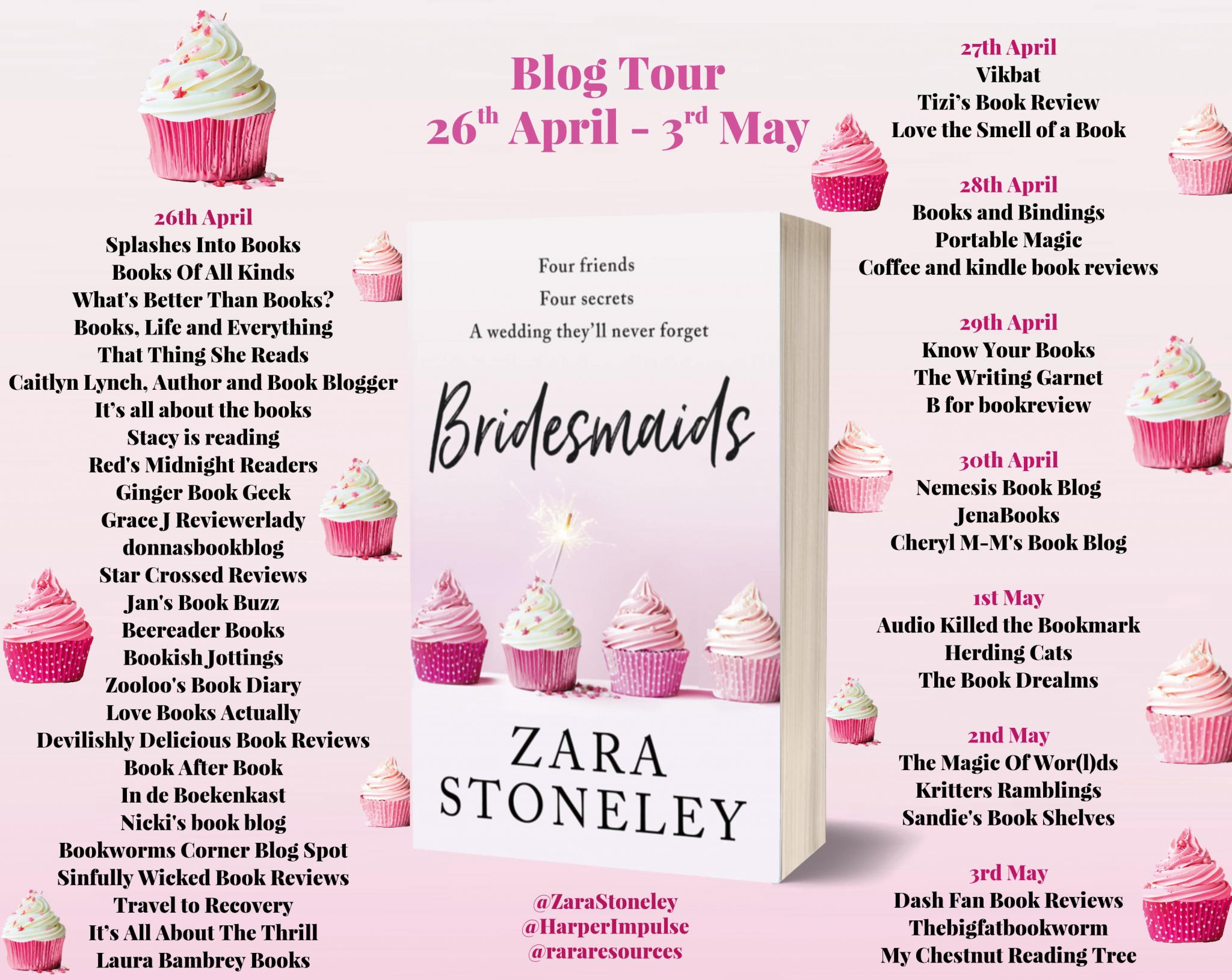 ***#BookReview of Bridesmaids by Zara Stoneley