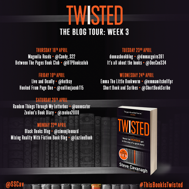 ***#BookReview of Twisted by Steve Cavanagh @sscav @Tr4cyF3nt0n @orionbooks #thisbookistwisted