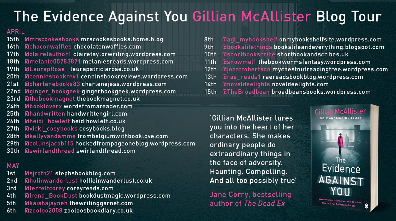***BookReview of The Evidence Against You by Gillian McAllister