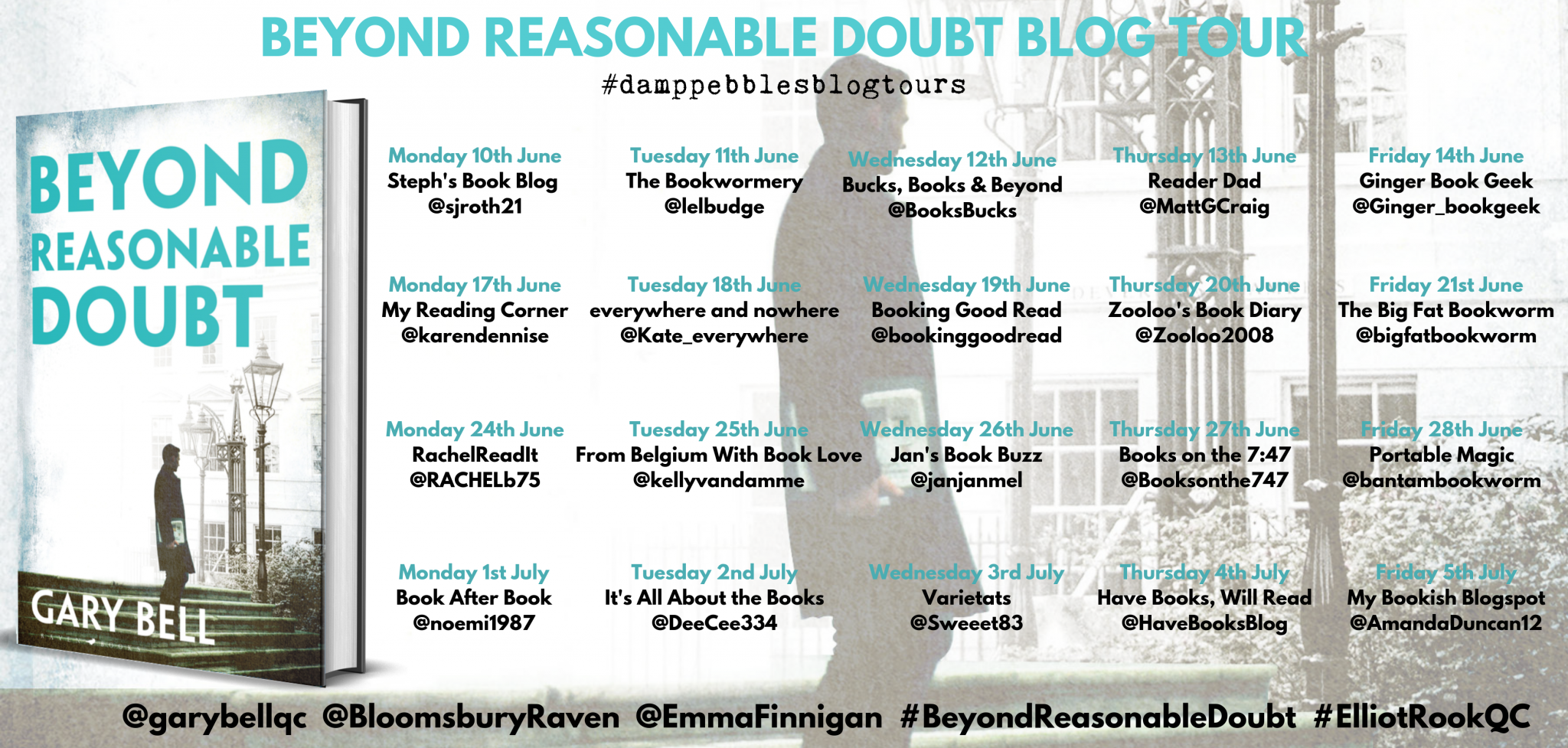 ***#BookReview of Beyond Reasonable Doubt by Gary Bell @garybellqc #BeyondReasonableDoubt #ElliotRookQC  @BloomsburyRaven @EmmaFinnigan @damppebbles #damppebblesblogtours