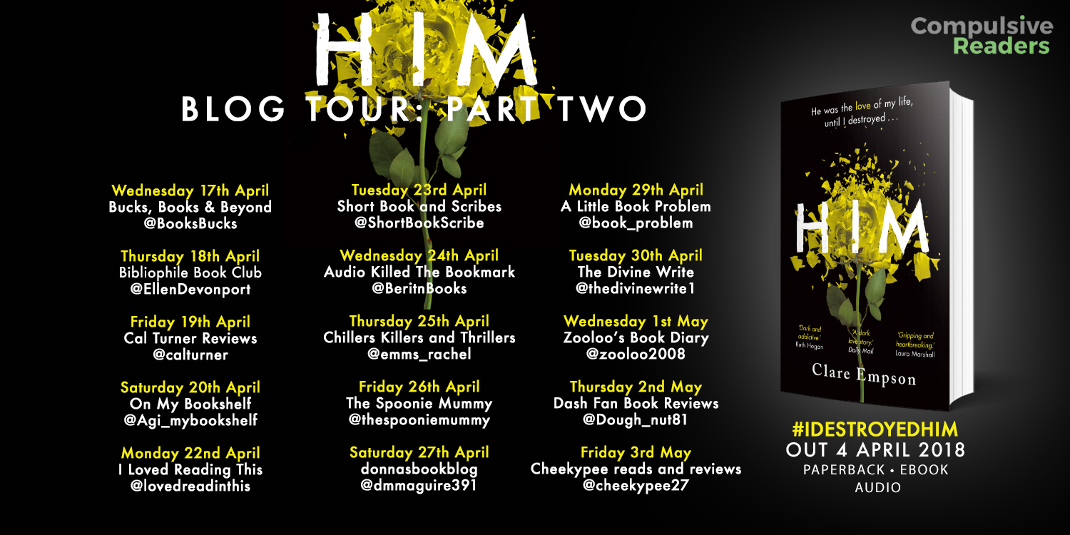 ***#BookReview of Him by Clare Empson @ClareEmpson2 @tr4cyf3nt0n @orionbooks