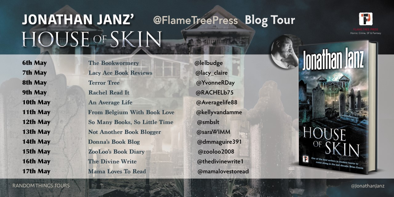 #BookReview of House of Skin by Jonathan Janz @jonathanjanz @flametreepress @annecater #Randomthingstours