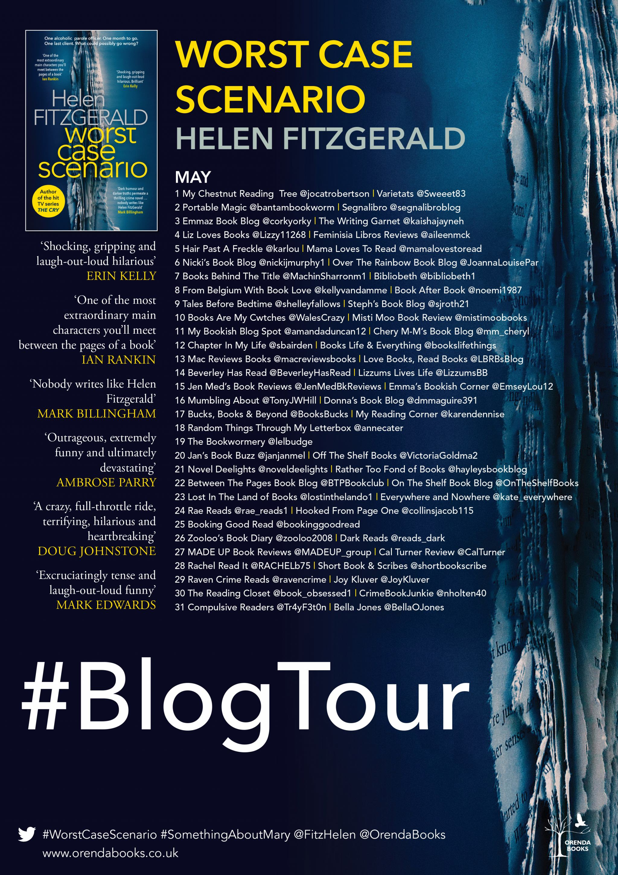 ***#BookReview of Worst Case Scenario by Helen Fitzgerald @orendabooks @annecater
