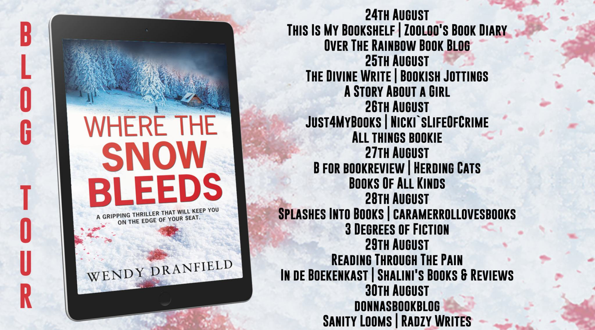 #BookReview of Where The Snow Bleeds by Wendy Dranfield @WendyDranfield @Rararesources @Rubyfiction #deanmatheson
