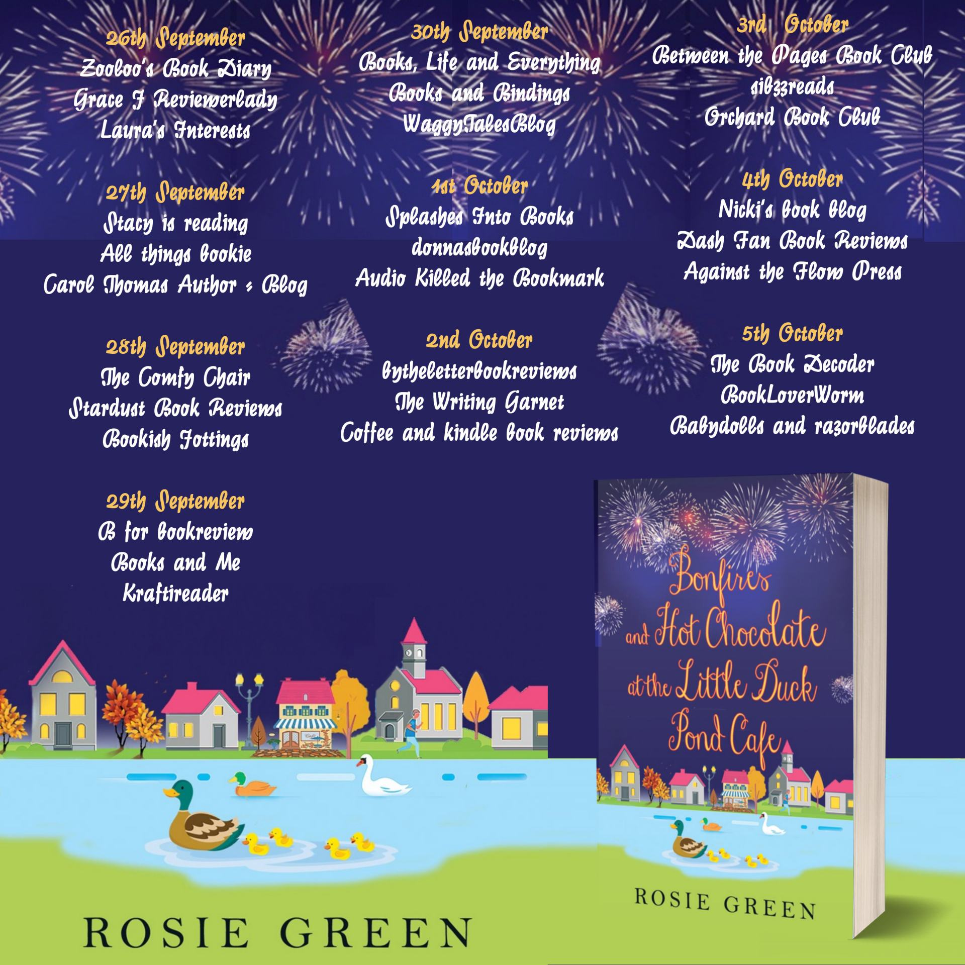 ***#BookReview of Bonfires & Hot Chocolate at The Little Duck Pond Cafe by Rosie Green @Rosie_Green1988 @rararesources