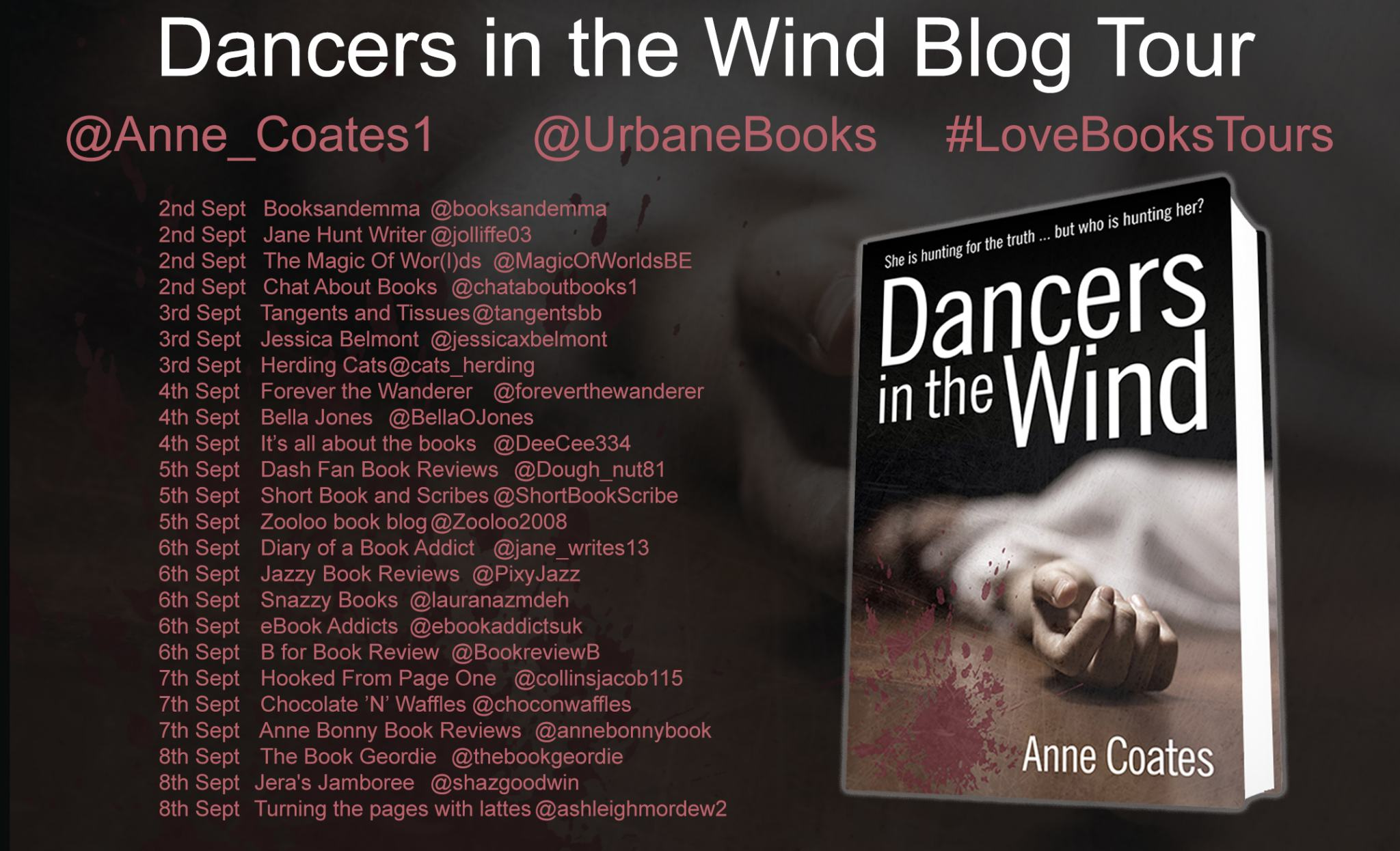 ***#BookReview of Dancers in Wind by Anne Coates @anne_coates1 @urbanebooks #LoveBooksTours