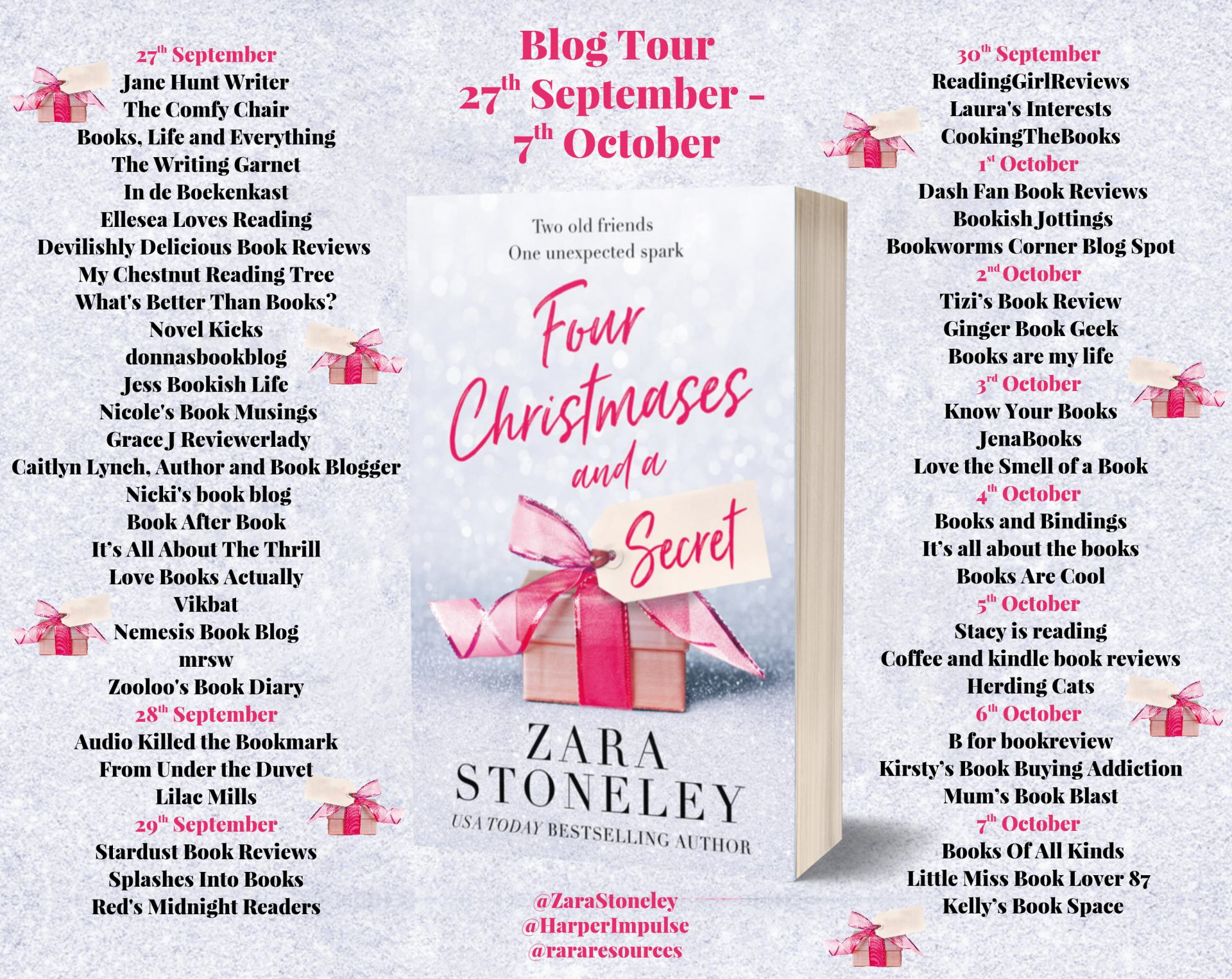 ***#BookReview by Four Christmases and a Secret by Zara Stoneley @Zarastoneley @rararesources @harperimpulse