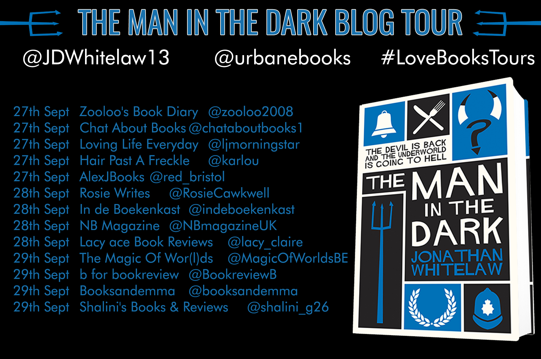 ***#BookReview of The Man in the Dark by Jonathan Whitelaw @urbanebooks  @JDWhitelaw13 #lovebookstour