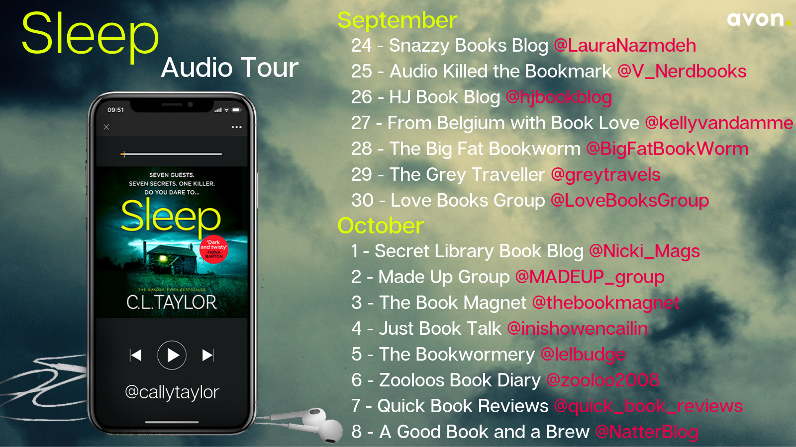 #AudiobookReview of Sleep by C.L Taylor @callytaylor @LitRedCorvette @avonbooksuk